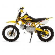 Mini Moto Cross Amarelo Pro Tork TR50F 2017 Off Road 50cc Aro 10 e Gasolina -