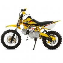 Mini Moto Cross Amarelo Pro Tork TR50F 2017 Off Road 50cc Aro 14 e Gasolina -