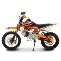 Mini Moto Cross Laranja Pro Tork TR100F 2017 Off Road 100cc Aro 14 e Gasolina -
