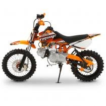 Mini Moto Cross Laranja Pro Tork TR50F 2017 Off Road 50cc Aro 14 e Gasolina -