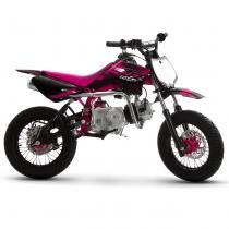 Mini Moto Cross Rosa Pro Tork TR125F 2017 Off Road 125cc Aro 12 e Gasolina -