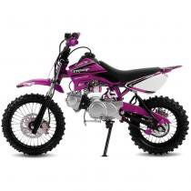 Mini Moto Cross Rosa Pro Tork TR50F 2017 Off Road 50cc Aro 10 e Gasolina -