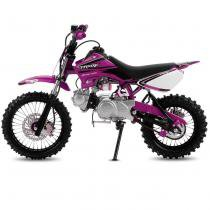Mini Moto Cross Rosa Pro Tork TR50F 2017 Off Road 50cc Aro 14 e Gasolina -