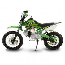 Mini Moto Cross Verde Pro Tork TR100F 2017 Off Road 100cc Aro 14 e Gasolina -