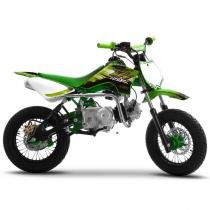 Mini Moto Cross Verde Pro Tork TR125F 2017 Off Road 125cc Aro 12 e Gasolina -