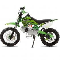Mini Moto Cross Verde Pro Tork TR50F 2017 Off Road 50cc Aro 10 e Gasolina -