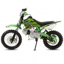 Mini Moto Cross Verde Pro Tork TR50F 2017 Off Road 50cc Aro 14 e Gasolina -