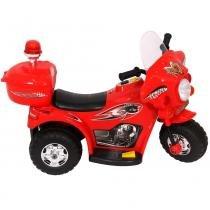 Mini Moto Eletrica Infantil Policia 6V 18W Vermelha  Importway -