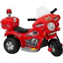 Mini Moto Eletrica Infantil Triciclo Vermelha - Uni Import
