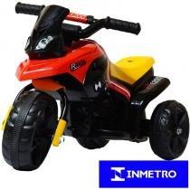 Mini Moto Elétrica Triciclo Criança Infantil Bateria 6V Preta GS R1200 Bivolt - Importway