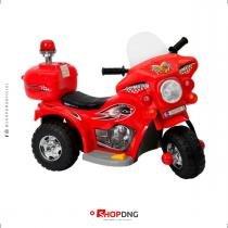 Mini Moto Triciclo Elétrico Infantil Polícia BW-002 - Vermelho - Importway