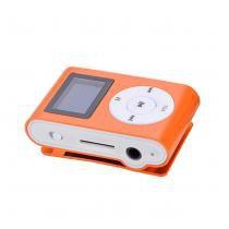 Mini Mp3 Player c/ Fone de Ouvido Laranja - Outros
