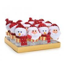 Mini Potes Papai Noel Boneco De Neve Vermelha - Cromus