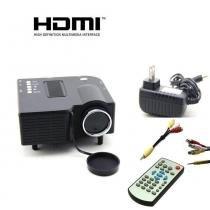 Mini Projetor De Led Portatil Data Show Hdmi Filmes USB Sd - Mega page