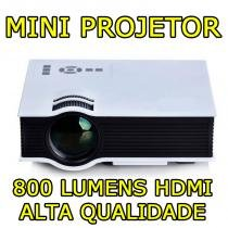 Mini Projetor Led HD Tomate mpr 7007 Hdmi Led 800 Lumens Usb Avi Xbox Ps4 - Tomate