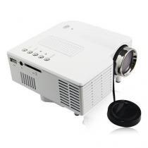 Mini projetor led portatil até 60pol c/hdmi, controle, usb, sd, av, avg tomate - Represent