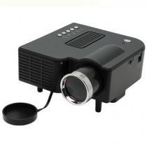 Mini Projetor Portátil Led 60 Pol Hdmi Usb Sd Vga Av Uc28 Preto - Bk imports