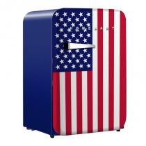Mini Refrigerador Retro Home  Art 106 Litros Bandeira USA -