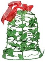 Mini Sino de Natal Verde Decoracao Natalino Kit com 3 unidades (NA-12 Mini Sino Verde) - Braslu