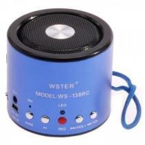 Mini speaker ws-138rc mp3/fm/usb - azul - Oem