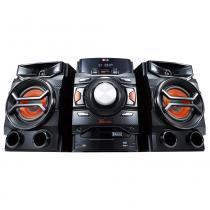 Mini system lg cm4350 preto - 220w rms, multi bluetooth, dual usb, mp3, cd e rádio - Lg