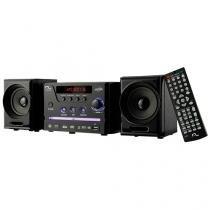 Mini-System Multilaser com DVD Player USB Rádio FM Karaokê Preto - SP141 - Neutro - Multilaser