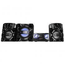 Mini System Panasonic SC-AKX880LBK Preto, 1800W RMS, USB, Bluetooth, D-Bass Beat, Max Juke, Bivolt -