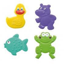 Mini Tapetes para Banho Multikids Bath e Fun Colorido -