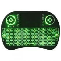 Mini Teclado Iluminado Touchpad Sem Fio Pc Ps3 Xbox Tv Box - Infokit