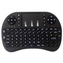 Mini Teclado Sem Fio + Touchpad Mouse P/ Smart Tv Pc Notebook - Preto - Mega page