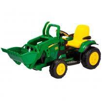 Mini Trator Elétrico - John Deere Ground Loader 12V - Peg-Pérego - Peg pérego
