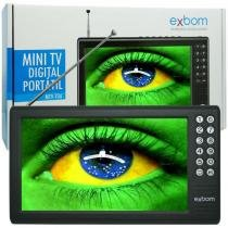 Mini Tv Digital Portátil HD Tela 7.0 Polegadas Usb Sd Rádio Fm Isdb-t Monitor Exbom MTV-70A -