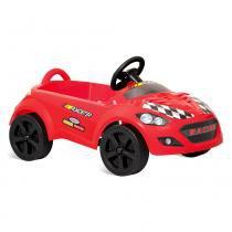 Mini Veículo a Pedal - Roadster Vermelho - Bandeirante -