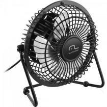 Mini ventilador de mesa usb ac167 preto multilaser -