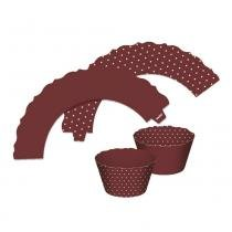 Mini Wrappers Cupcake Marrom c/12 - Ultrafest -