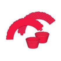 Mini Wrappers Cupcake Vermelho c/12 - Ultrafest -