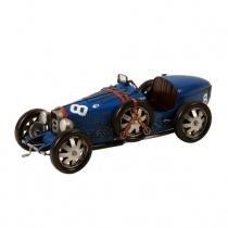 Miniatura Bugatti Decorativa de Metal Azul Maria Pia Casa