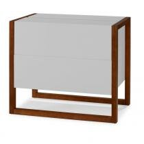 Minibar Winter Branco - Marrom - Máxima Móveis