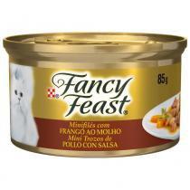 Minifilés Nestlé Purina Fancy Feast com Frango ao Molho - 85 g -