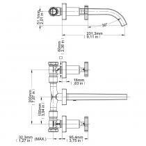 Misturador para Lavatório de Parede City 499206 Docol Cromado - DOCOL