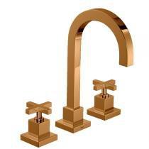 Misturador Re Gold Lavatório Deca Mesa Duna Quadratta 1877.GL94.Rd - Deca