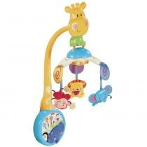 Móbile 2 em 1 Fisher Price Mattel  Zoo Musical W9913 - Mattel
