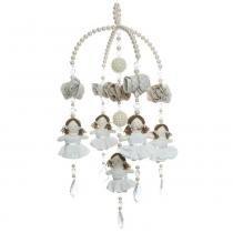 Mobile Boneca Branca E Perola - ÚNICO - ATELIE BABY SHOP