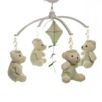 Móbile Musical Ursinho Verde Berço Quarto Bebê Menino - Potinho de mel