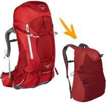 3e0050ab2 Mochila Cargueira 55 Litros OSPREY Ariel AG Daypack Tamanho PP Vermelha  para Trekking -