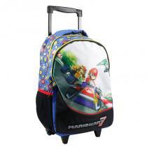 Mochila com rodinhas Super Mario 8729872 Preta - Super mario bros