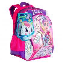 Mochila de Costas Barbie Aventura nas Estrelas Sestini Grande Infantil + Caixa de Som - Sestini
