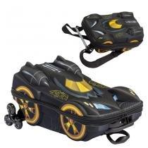 Mochila Escolar 3D com Lancheira MaxToy Batman Beware - Diplomata