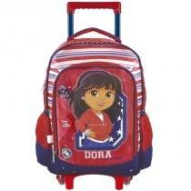 Mochila escolar grande com rodas 6440/17 - Dora aventureira College - Xeryus Xeryus