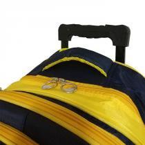 23db5d7f4a8 Mochila Escolar Infantil Carrinho 5 Divisórias Estudante Amarelo - Ativa